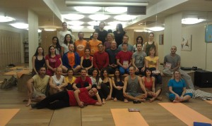 Participants of Fabio Andrico's Yantra Yoga Teacher Training in Moscow